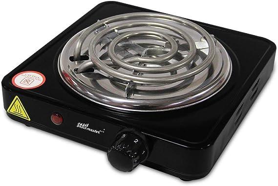 broil-master Cocina Eléctrica para Shisha - 1000W, con Regulador de Temperatura y Protección por Sobrecalentamiento, Color a Elegir - Quemador de ...