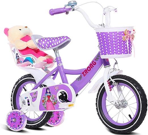 QARYYQ Bicicletas Infantiles Bicicletas para niñas de 6 a 9 años ...