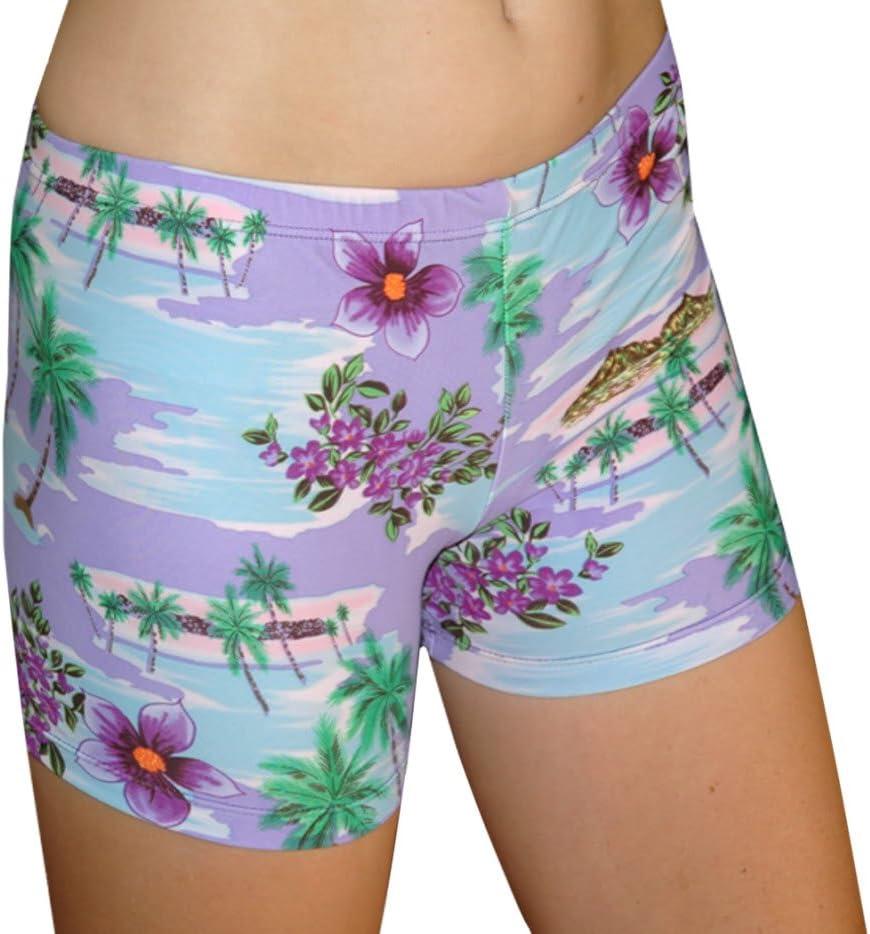 Tuga Girls//Women Spandex Shorts Prints 3 Inch Inseam
