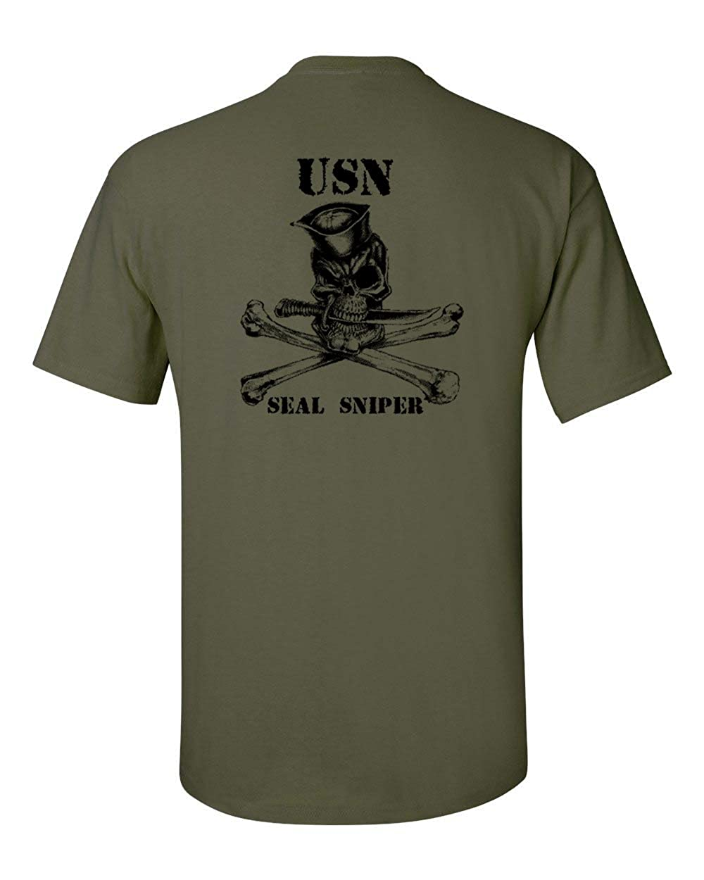 Navy Seal Sniper Front and Back Men's T-Shirt
