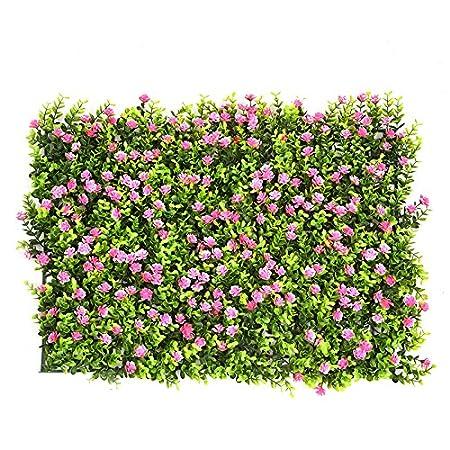 künstliche Hecke mit Blumen Faux Greenery Privatsphäre Schirme grüne Hecke Hintergrund Kunststoff Garten gefälschte Zaun Mat