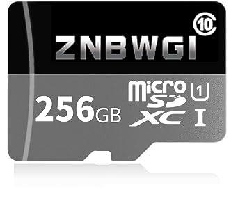 ZNBWGI - Tarjeta de Memoria Micro SD (256 GB, Clase 10 ...