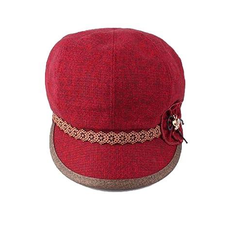 f01ba79509a08 Yiwuhu Suave Los Sombreros Son Cortos a lo Largo de la Boina Fina en la  Primavera