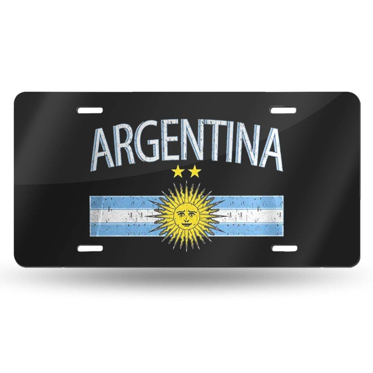 JIA KOAH Argentina Flag Novelty License Plate Cartel De Pared De Hojalata Retro Placa Bar Tienda Hogar Metal Ilustraciones Decoraci/ón