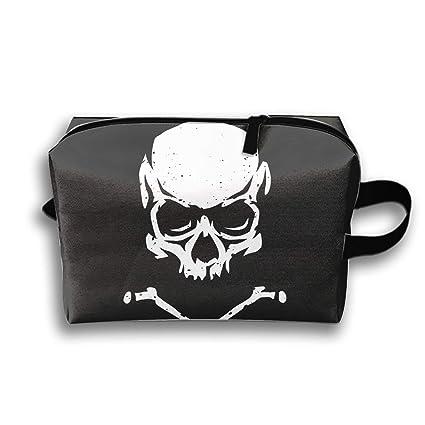 308f8c8733cb Amazon.com: Storage Bag Travel Bag Skull and Crossbones Cosmetic Bag ...