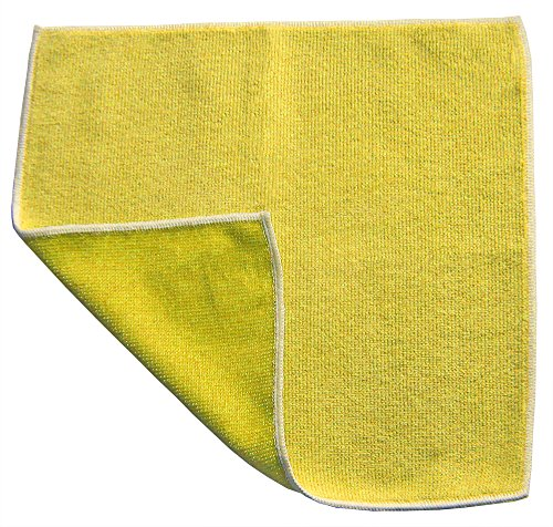 Dual Sided Microfiber Combination Cloth 12x12 - Yellow Case of 120 by Direct Mop Sales, Inc.