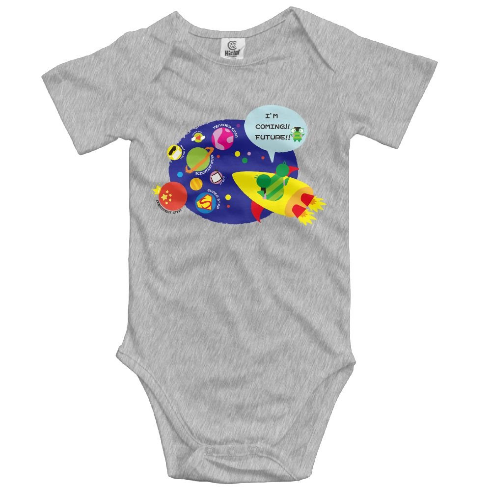 Baby Climbing Clothes Romper Cute Space Astronaut Infant Playsuit Bodysuit Creeper Onesies Ash