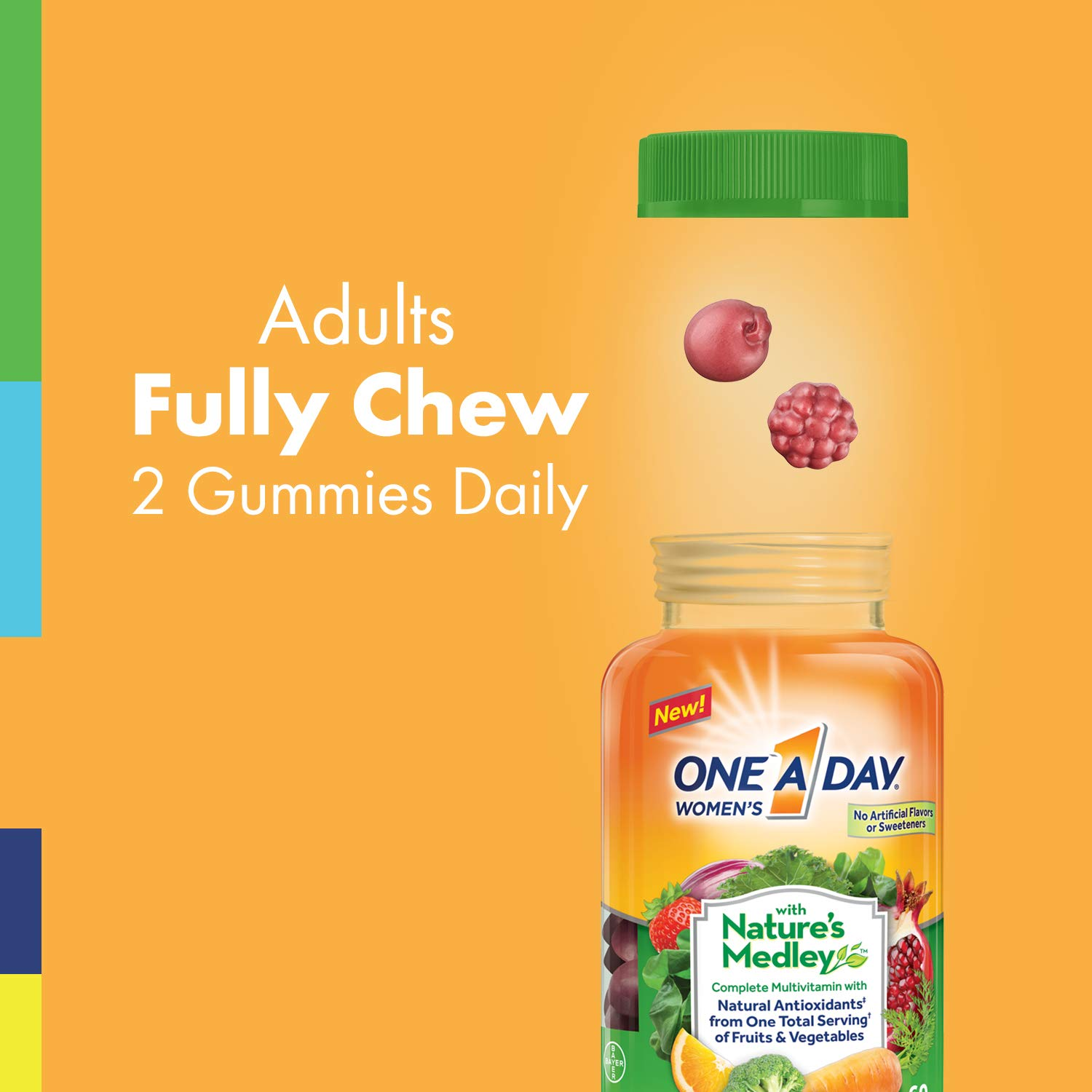 Amazon.com: One A Day Womens with Natures Medley Complete Multivitamin Supplement Gummies, 60 Count: Health & Personal Care