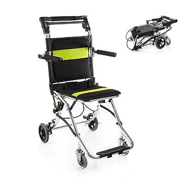 Silla de ruedas itinerante plegable portátil, silla de ...