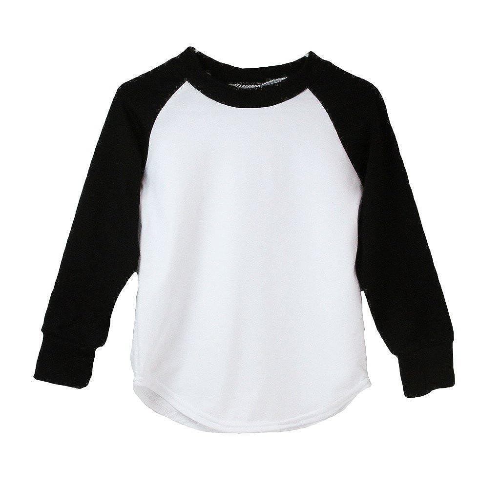 Black Long Sleeve Raglan Baseball T-Shirt 16378-Parent