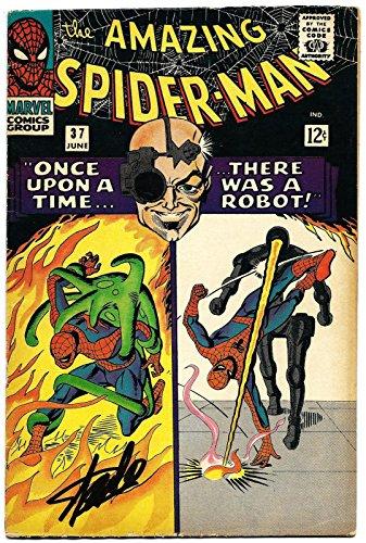 Stan Lee Hand Signed Spiderman #37 Comic Book Graded Gem Mint 10! V07893 - PSA/DNA Certified
