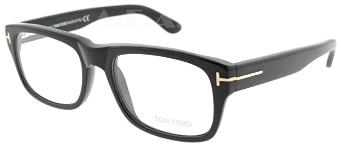 f3b072a2995fb Amazon.com  Tom Ford Tf 5253 Black Frame Clear Lens 54Mm  Tom Ford ...