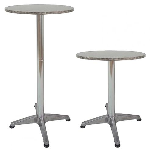 Gartentisch rund klappbar  Amazon.de: Jalano Aluminium Bistrotisch wetterfest Gartentisch ...