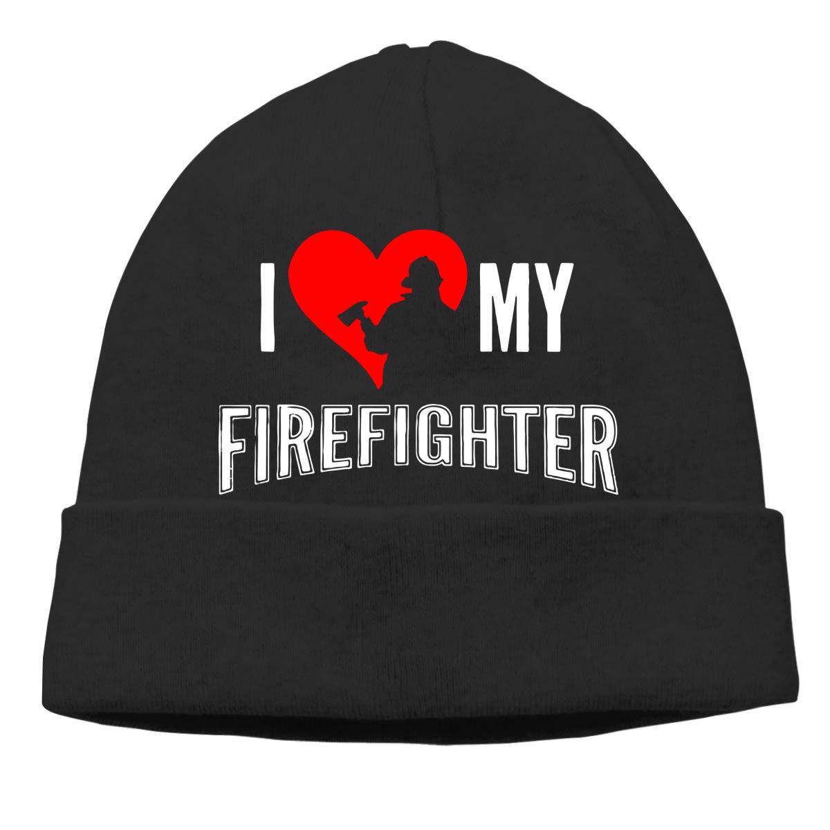 I Love My Firefighter Men Women Sweat Wicking Sports Skull Cap