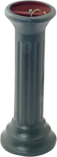 Rome B18 Column Sundial Pedestal Base, Cast Iron with Painted Finish, 20-Inch Height by 9-Inch Width