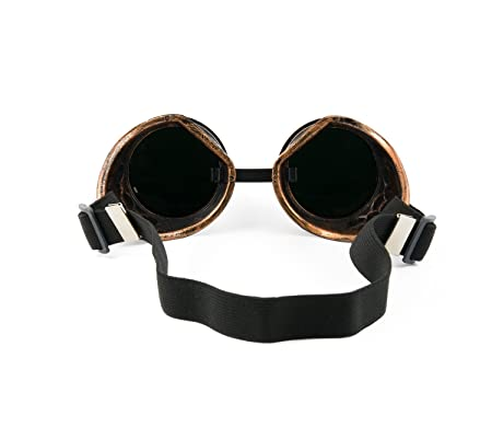 f9d1fcd1d6a1 4sold Round Rave Gold Novelty Cosplay Steampunk Goggles UK Ultra Premium  Quality Cyber Glasses Glasses Victorian Punk Style Welding Cosplay in a  Gothic .
