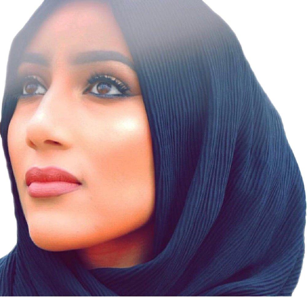 High qulity crinkle hijab (Black)