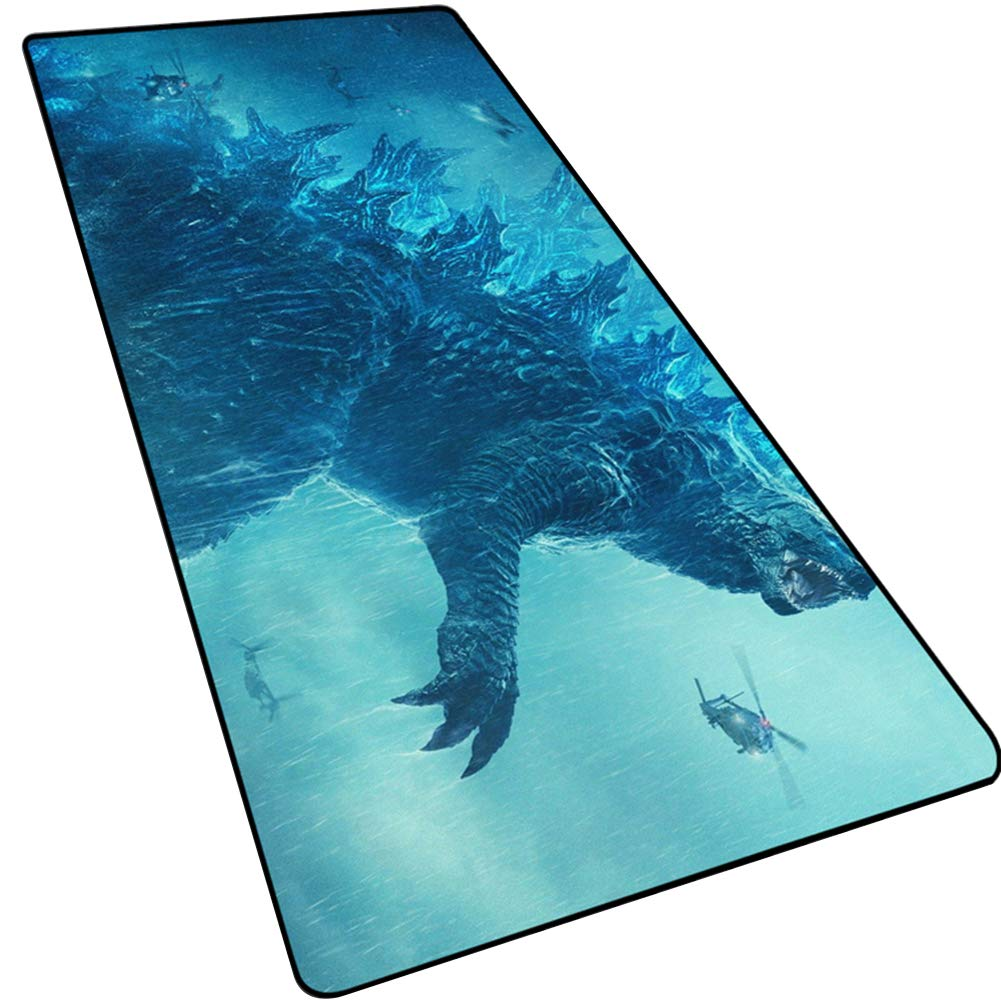 LOGER Monster King Godzilla 2 Large Mouse pad, Table mat/Keyboard pad, Thick Non-Slip Lock, Suitable for Office games-7-90x40cm by LOGER