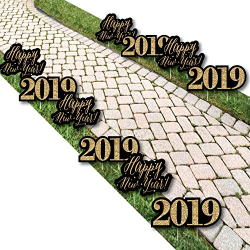 New Year's Eve - Gold - 2019 Lawn Decorations - Outdoor New