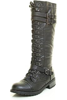 Womens Baker Almond Toe Mid-Calf Fashion Boots, Olive, Size 6.0 xoxo