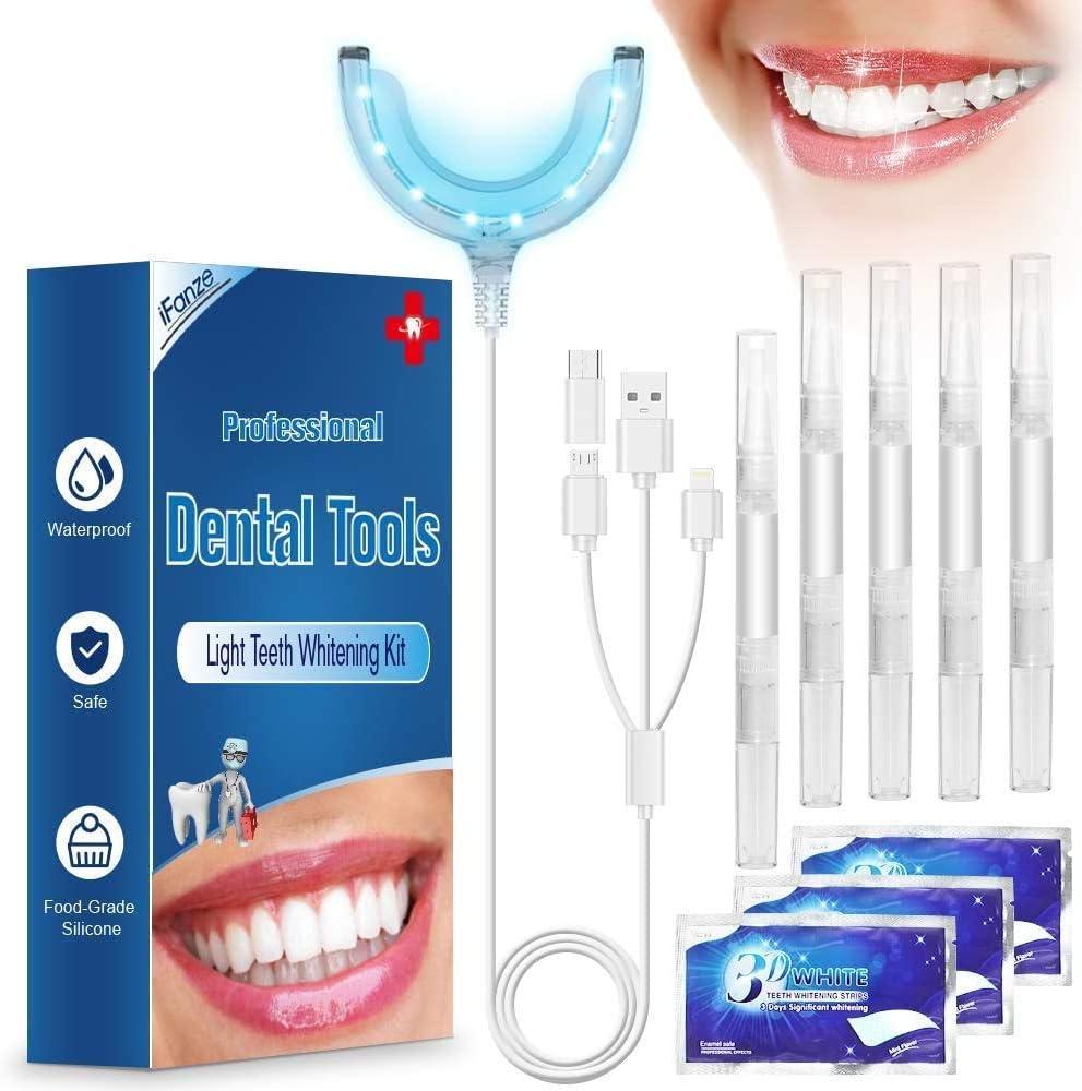 Teeth Whitening Kit Ifanze Teeth Whitening Gels Kit Set With Led