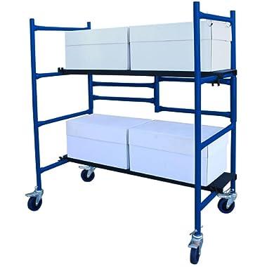 4 ft. Mini Foldable Scaffold Mobile Workbench Storage Cart