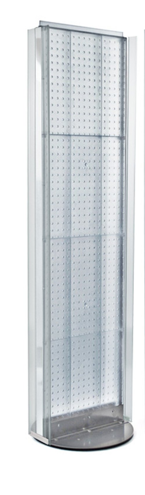 New Clear 2 Sided Pegboard Floor Display Stand with Revolving Base 16''w x 60'' h