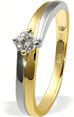 goldmaid Damen Ring Gold 585 Bicolor 1 Brillant 0,20 Karat