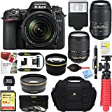 Nikon D7500 20.9MP DX-Format Digital SLR Camera (Body Only) + 64GB Deluxe Accessory Bundle (2 Lens Kit 18-140mm & 55-300mm)
