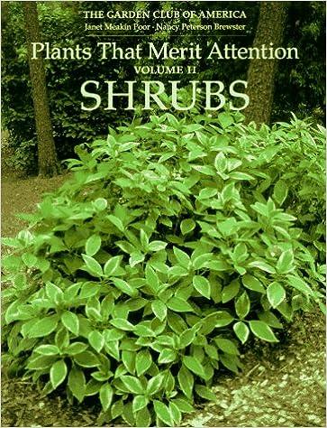 plants that merit attention shrubs garden club of america nancy