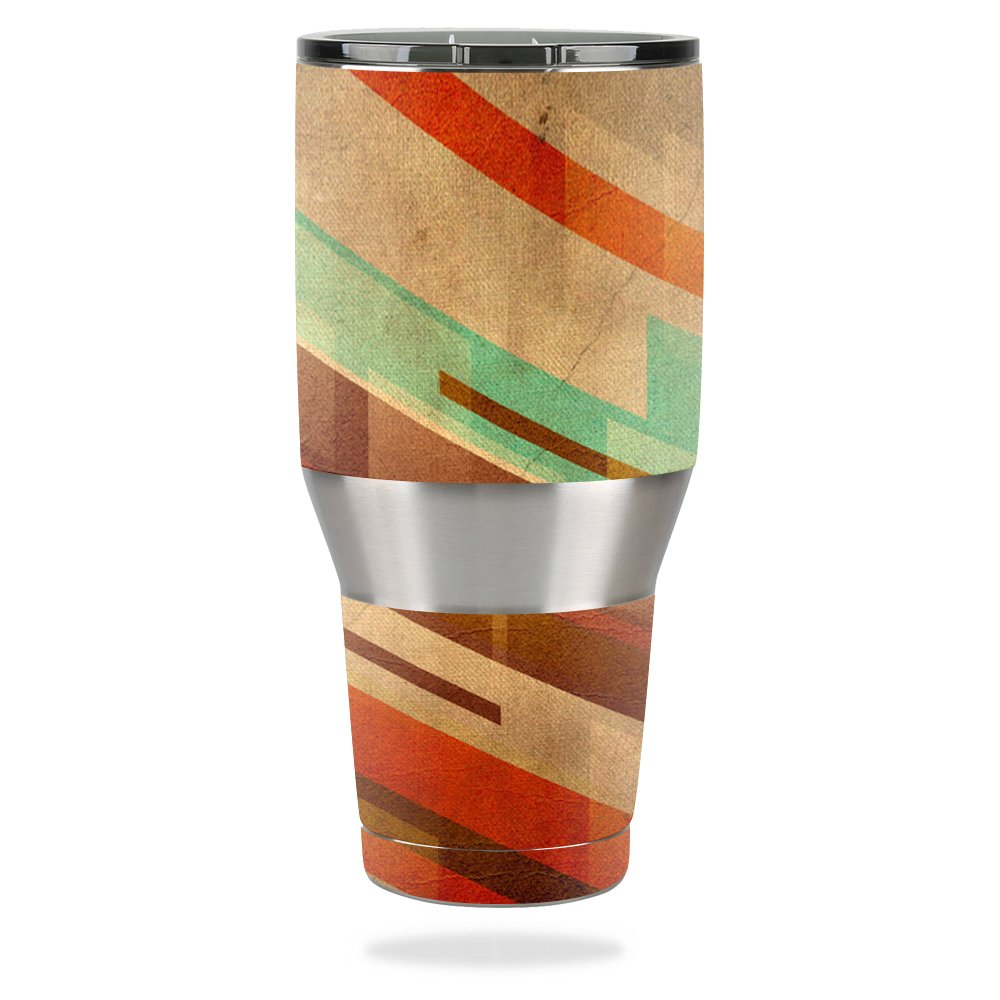 MightySkins Protective Vinyl Skin Decal for Ozark Trail 40 oz Tumbler wrap Cover Sticker Skins Abstract Wood