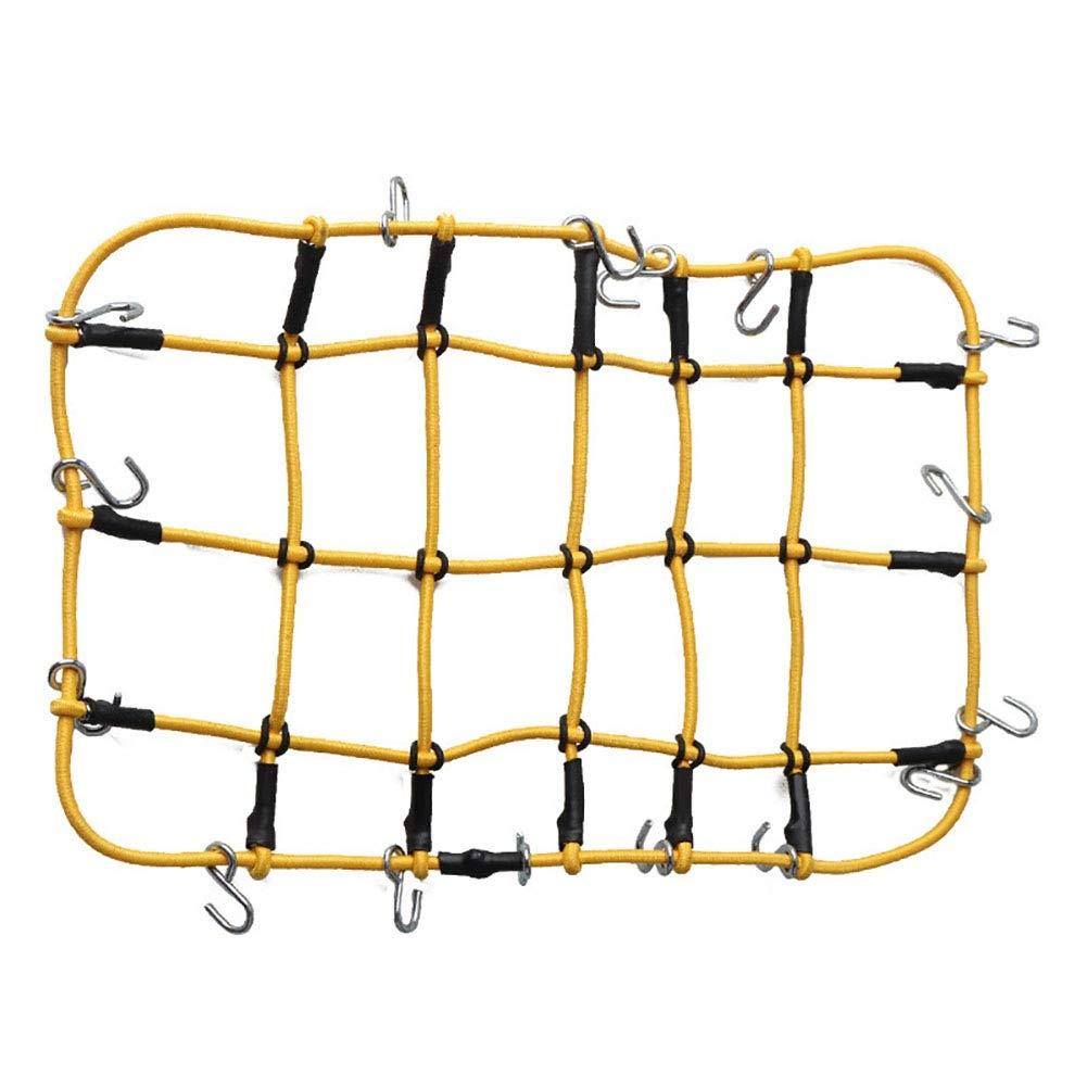 portaoggetti con Ganci per Macchina assiale SCX10 D90 RC4WD Traxxas TRX4 1:10 WEISY Rete portabagagli Elastica per Auto Tetto