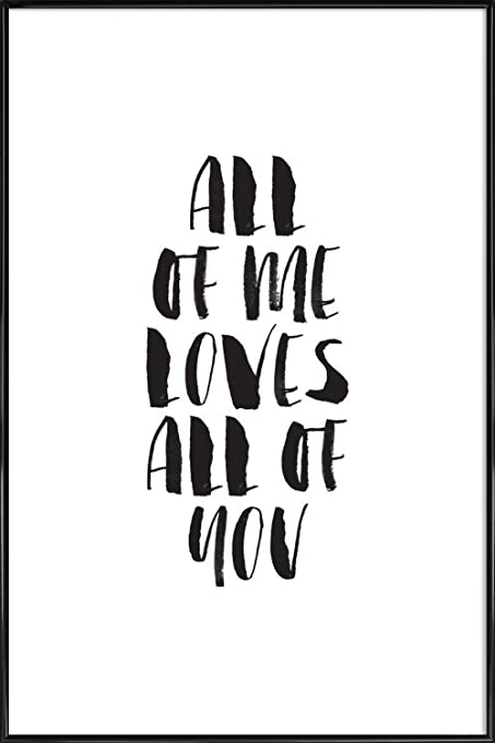 JUNIQE® Pictures with frames 60x90cm Black & White Love Quotes ...