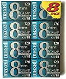 Maxell GX-MP High Quality 120 Camcorder tapes, 8 Pack