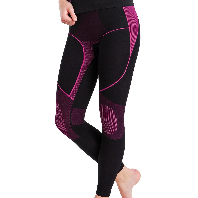Damen Sport Thermo Funktionswäsche Hose Lang Seamless von celodoro - Ski-, Thermo- & Funktionshose ohne störende Nähte mit Elasthan in versch. Farben