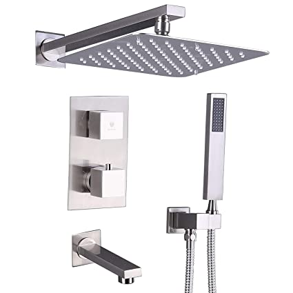 Back To Search Resultshome Improvement Shower Equipment 2 Dial 1 Way Bathroom Thermostatic Rain Shower Head Set Round Mixer Faucet Tap Shower Valve Panel To Adopt Advanced Technology