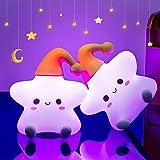 Kids Night Light,Baby Night Light Star Girl Cute Toddler Nursery Night Light for Kids Bedroom Baby Room, Batttery Portable So