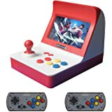 シュミ アーケード mini 互換機 レトロ携帯ゲーム機 内蔵3000種ゲーム コントローラー付き (紅)