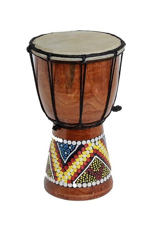 30cm 25cm 20cm 15cm 12cm Djembe Tamburo Bongo bambini bunt Bemalt Tamburi a mano Istruzioni OneSize 30cm Djembe Trommel Bongo Bunt Bemalt
