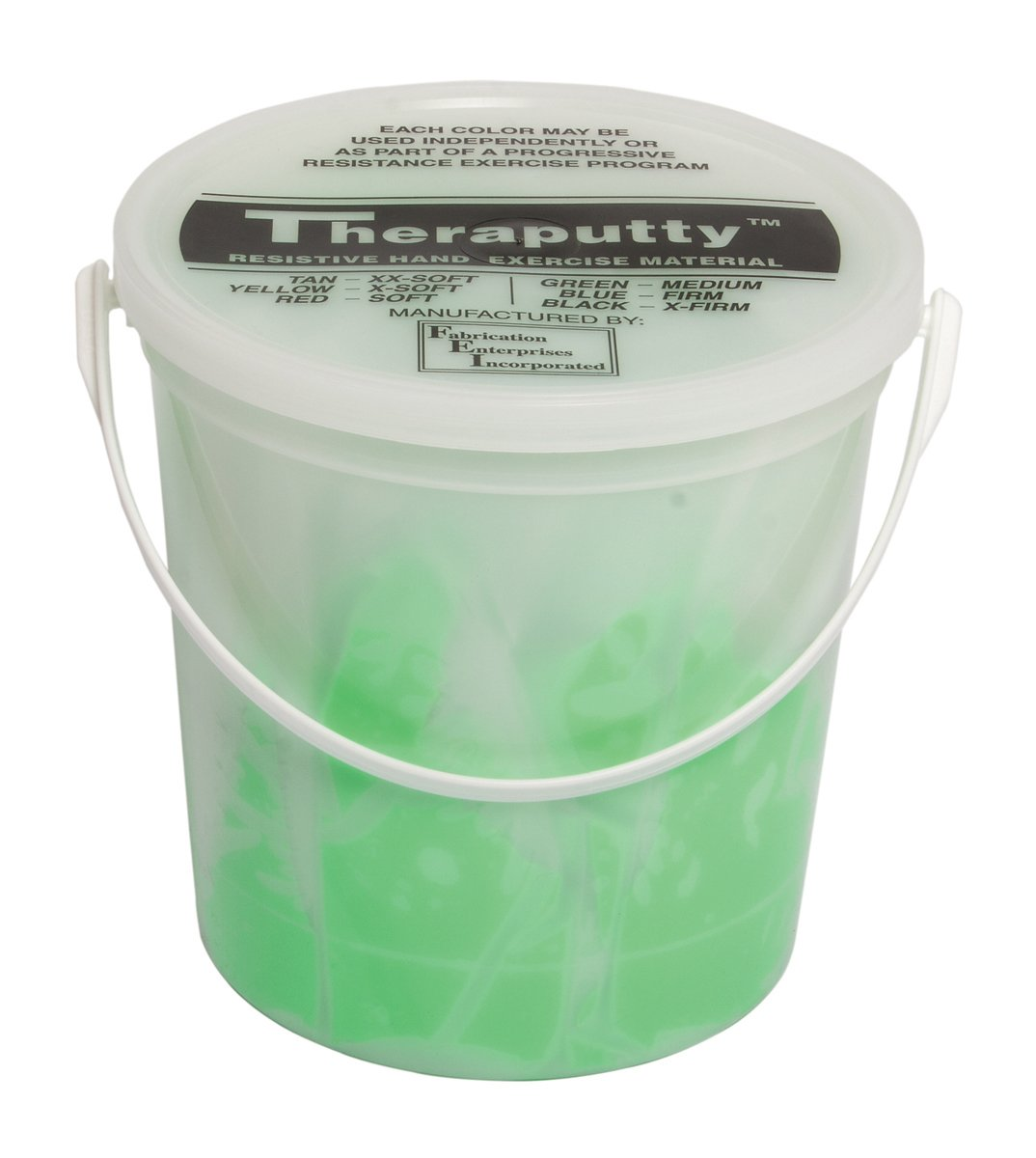CanDo TheraPutty Plus Anti-microbial, Green: Medium, 5 lb
