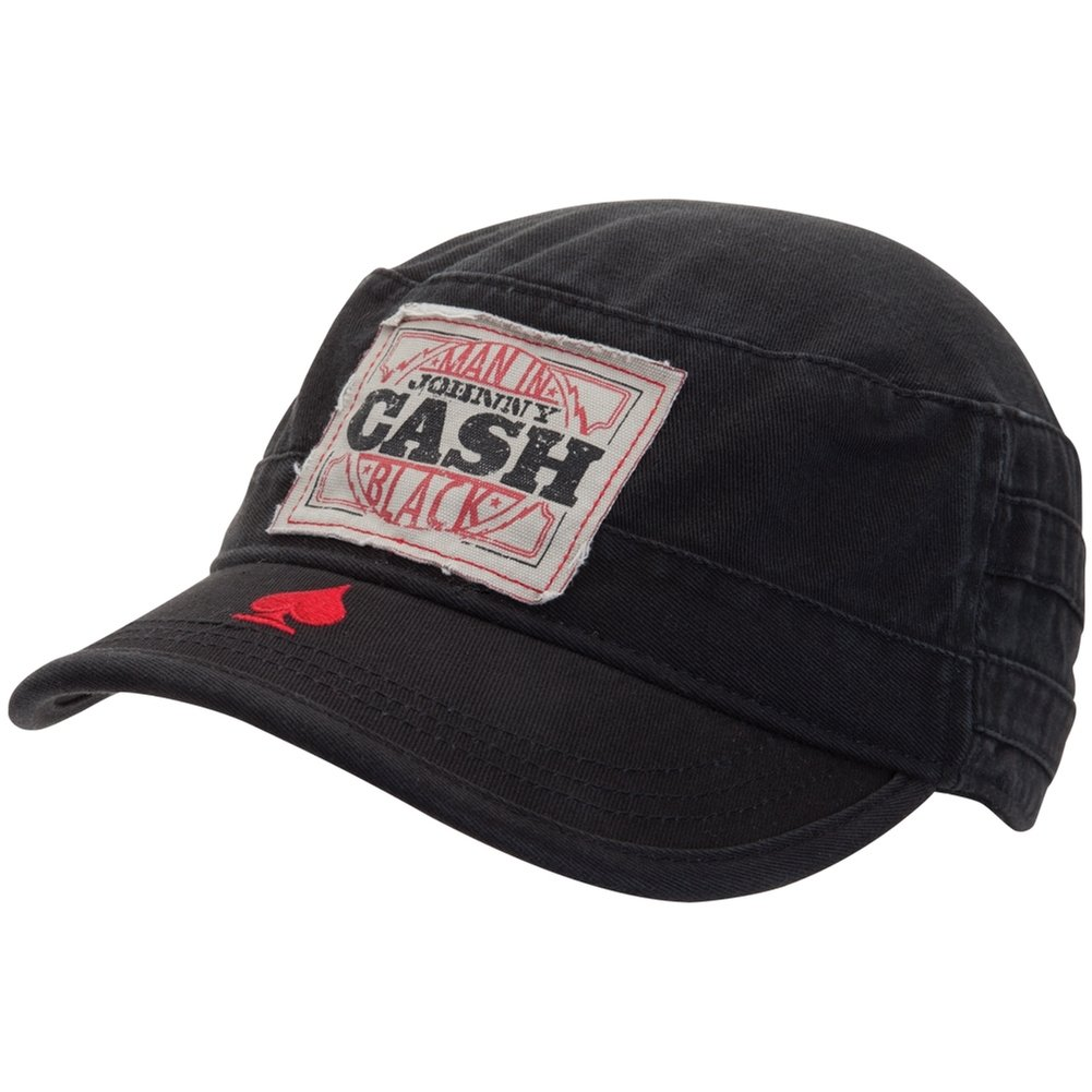 Amazon.com  Old Glory Johnny Cash - Mens Johnny Cash - Patch Cadet Cap  Black  Clothing 788aba839ce