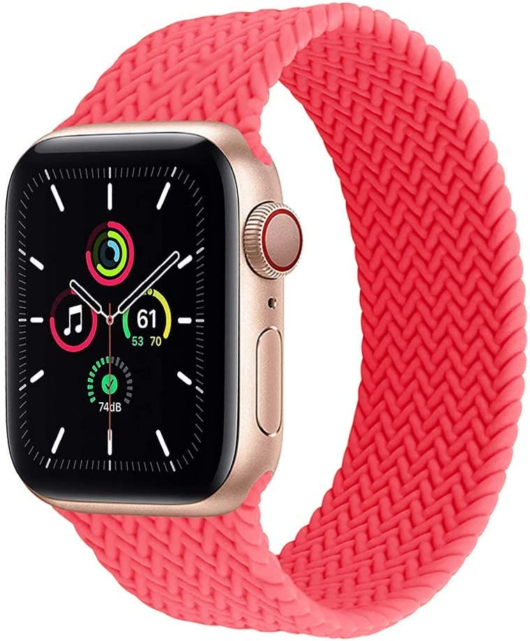 Silicone Solo Loop Compatible for Apple Watch Band 44mm 40mm 38mm 42mm Soft Elastic Belt Silicone Bracelet for iWatch Series 3 4 5 SE 6 Strap