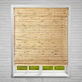 "Calyx Interiors A04CBK400600 Cordless Bamboo Blind, 40"" W X 60"" H, Petite Rustic"