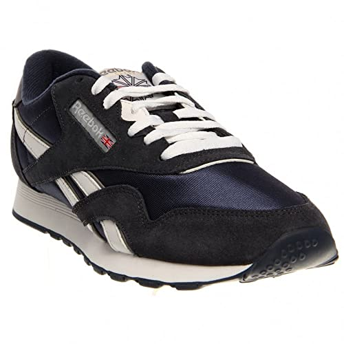 Reebok Classic Nylon - Zapatillas para Hombre, Color Team Navy/Platinum, Talla EUR