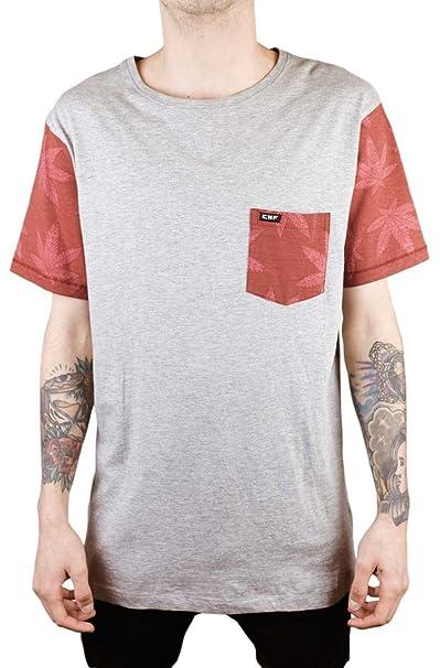 CONFUSION Camiseta Manga Corta Cannabis Grey tee V2 trabajada en Dos Colores. 100% algodón