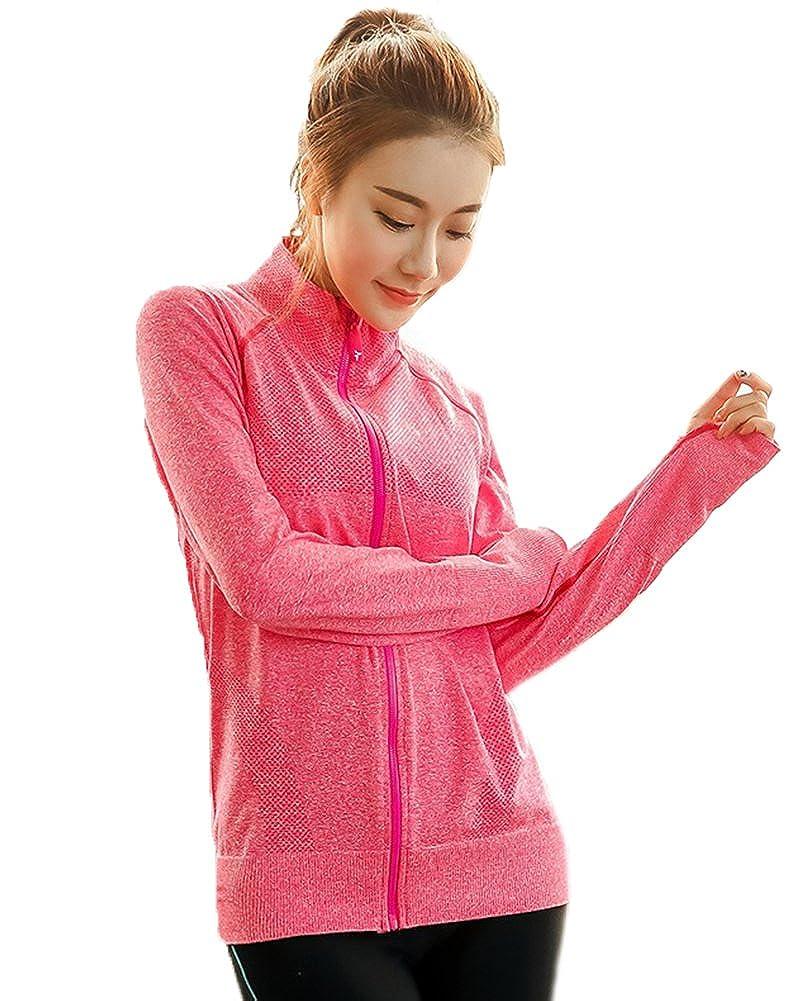 6f0c5423a2b Senchanting Plus Size Full Zip Workout Jacket With Thumb Holes Yoga  Sweatshirts