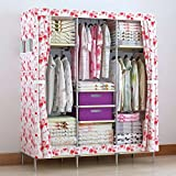 Product review for Generic New Portable Double Closet Storage Organizer Wardrobe Hanging Space Clothes Cabinet + Free 2 Storage Boxes