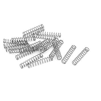 sourcingmap® 0.6Mmx5mmx25mm Muelles de compresión de acero ...