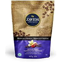 Zavida Premium Hazelnut Vanilla Whole Bean Coffee, 2 LB