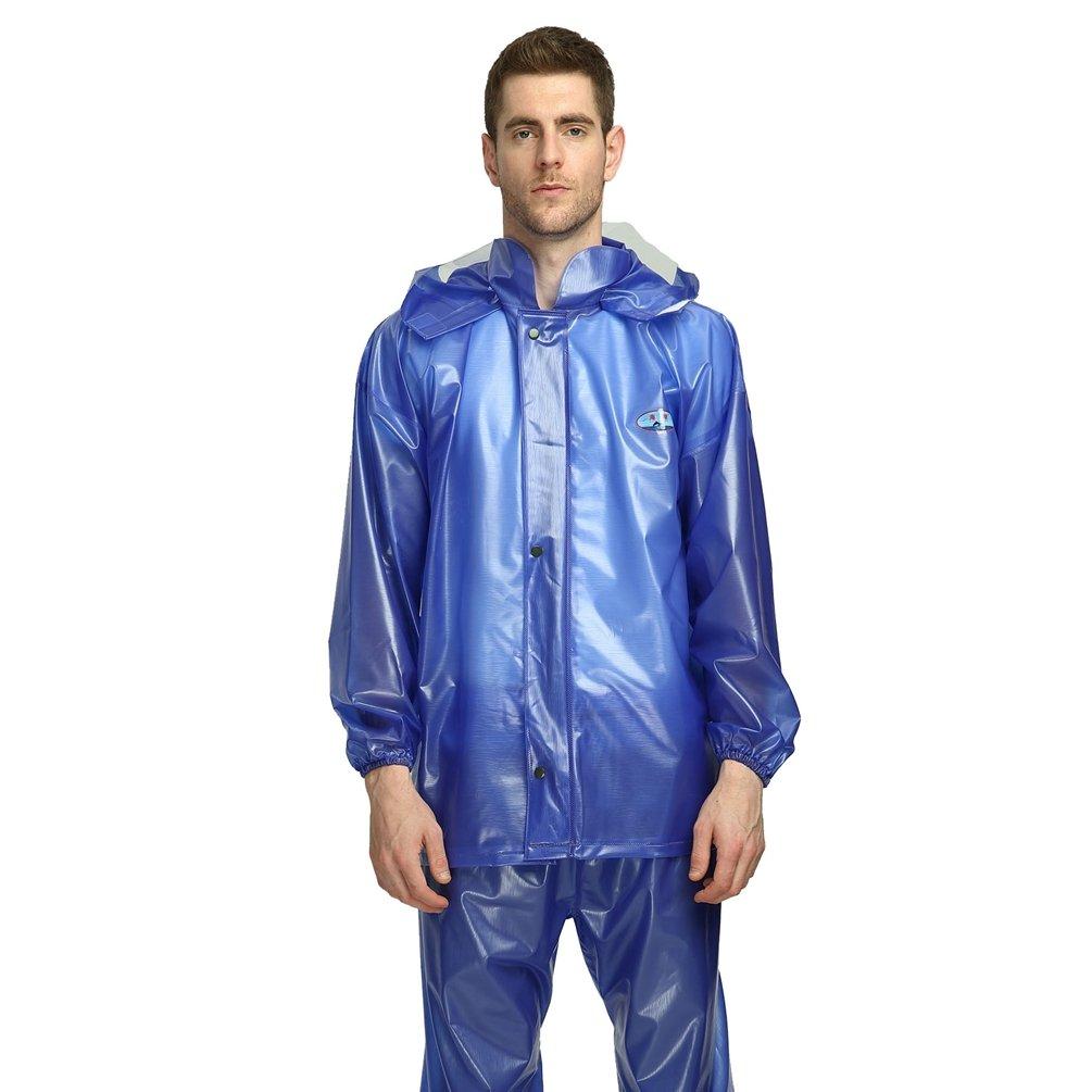 YAANCUN Waterproof Rain Suit Jacket & Trousers Set Womens Mens Durable Rain Coat